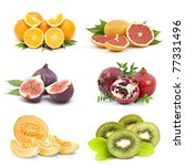 collection of fresh fruits | Shutterstock . vector #77331496