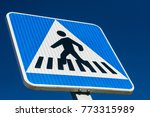 pedestrian crossing sign   spain | Shutterstock . vector #773315989