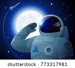 astronaut in the american space ... | Shutterstock .eps vector #773317981