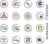 line vector icon set   sign... | Shutterstock .eps vector #773321365