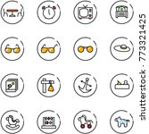 line vector icon set   cafe... | Shutterstock .eps vector #773321425