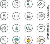 line vector icon set   patient... | Shutterstock .eps vector #773323357