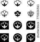 cotton flower icon collection ... | Shutterstock .eps vector #773326561