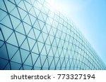 building structures aluminum... | Shutterstock . vector #773327194