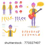 hipster woman for animation.... | Shutterstock .eps vector #773327407