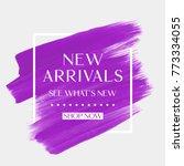 new arrivals sale text over art ... | Shutterstock .eps vector #773334055