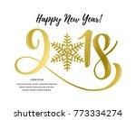 vector illustration  2018 hand...   Shutterstock .eps vector #773334274