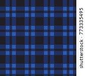 seamless pattern of blue tartan.... | Shutterstock .eps vector #773335495