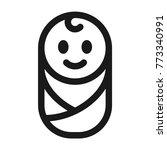 happy newborn baby icon | Shutterstock .eps vector #773340991