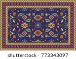 colorful oriental mosaic rug... | Shutterstock . vector #773343097