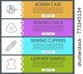 tailoring web banner templates...   Shutterstock .eps vector #773345134