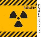 vector grunge radiation... | Shutterstock .eps vector #773346571
