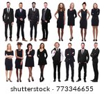 people in black above and next... | Shutterstock . vector #773346655