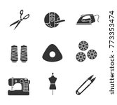 tailoring glyph icons set.... | Shutterstock .eps vector #773353474