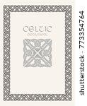 celtic knot braided frame... | Shutterstock .eps vector #773354764