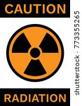 caution radiation sign. nuclear ...   Shutterstock .eps vector #773355265