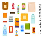 packages of snacks  chocolate ... | Shutterstock .eps vector #773358757