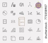 set of modern thin line icons... | Shutterstock .eps vector #773358907