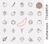 thin line vegetable vector icon ... | Shutterstock .eps vector #773358919