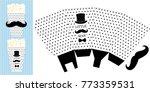 popcorn paper box. printable... | Shutterstock .eps vector #773359531