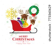 christmas icons  ornaments and... | Shutterstock .eps vector #773360629