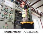 electrician or maintenance... | Shutterstock . vector #773360821