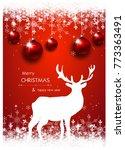 beautiful pink christmas... | Shutterstock . vector #773363491