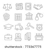 law line icons set on white... | Shutterstock .eps vector #773367775