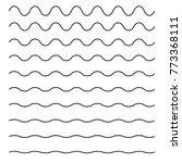 Set of wavy horizontal lines. Vector design element | Shutterstock vector #773368111