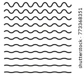 set of wavy horizontal lines.... | Shutterstock .eps vector #773368351