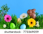 easter greeting card concept or ... | Shutterstock . vector #773369059