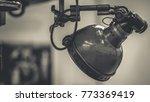 stainless steel desk lamp | Shutterstock . vector #773369419