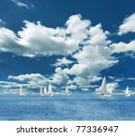 Sailing Boats On The Sea And...