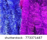 colorful rainbow in christmas | Shutterstock . vector #773371687