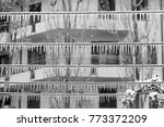 metal wires covered with iced... | Shutterstock . vector #773372209