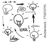 bulb light idea. concept of big ...   Shutterstock .eps vector #773372791