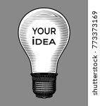 light bulb engraving drawing... | Shutterstock .eps vector #773373169