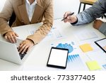 team work process. young...   Shutterstock . vector #773377405