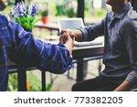businessman handshaking process ... | Shutterstock . vector #773382205