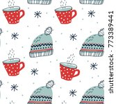 winter seamless pattern with... | Shutterstock .eps vector #773389441