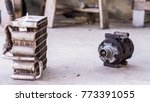 Small photo of Car Condenser and compressor Background clog up