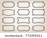 shape of vintage frame set on... | Shutterstock .eps vector #773393311