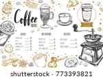 coffee and bakery restaurant... | Shutterstock .eps vector #773393821