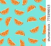 orange slices pattern. vector...   Shutterstock .eps vector #773398015