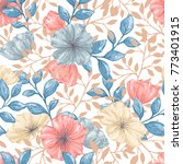 seamless pattern with gentle... | Shutterstock .eps vector #773401915