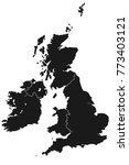 detailed map of great britain... | Shutterstock .eps vector #773403121