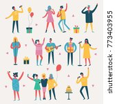 vector illustration in a flat... | Shutterstock .eps vector #773403955