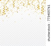 christmas golden confetti with... | Shutterstock .eps vector #773405761