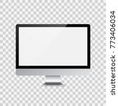 monitor for pc on transparent... | Shutterstock .eps vector #773406034
