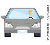 car vehicle with driver... | Shutterstock .eps vector #773408065